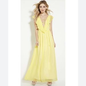 Forever 21 Lace Up Maxi Dress